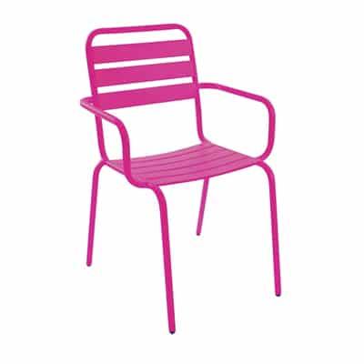 stablestol med armlende rosa